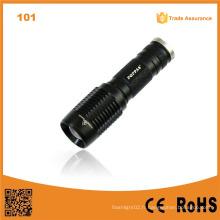 101 Qualité militaire Flash LED Light Rechargeable 10W 500 Lumen en aluminium Flash Torch LED Touch Light