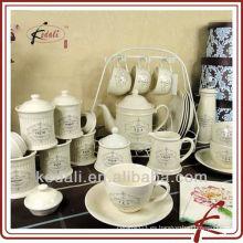 2015 caliente estilo de porcelana porcelana de cerámica conjunto juego de vajilla Set