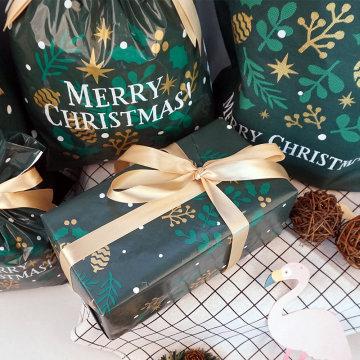 Papel de regalo de Navidad verde LWC 80g