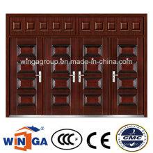 Twins Porte-fenêtre DIY Winga Metal Security Extérieur Porte en acier (W-SD-08)