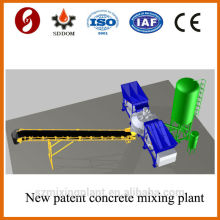 Patent product 20-25m3/h mobile concrete batching plant on sale
