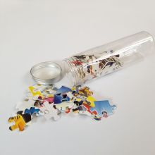 150pcs mini paper jigsaw puzzle in plastic tube