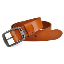 Unisex fashion genuine leather belt in camel col
