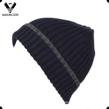 High Quality Wool Rib Knitted Men Beanie with Cuff