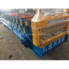 High speed double deck roofing and wall machine