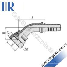 45 Elbow Metric Flachsitz-Hydraulikschlauch-Montage (20241)