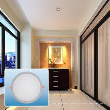 Светодиодные Утопленный свет/85-265v двойной Цвет круглый cob свет