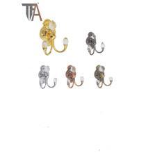 Crochets en rideaux en fer avec cristal