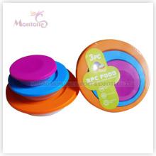 Коробка 3pack Бенто-ланч, красочные Микроволновая печь Пластиковые пищевых контейнеров