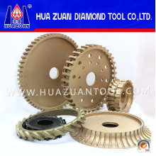 High Working Efficiency Diamond Grinding Plate for Stone Edge Grinding