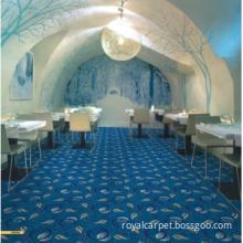 Blue Color Restaurant Wilton Carpet