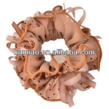 2014 fashion accessory polka dot wholesale thick hair elastic band