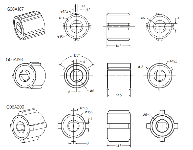 Invisible Screens Rotary Damper Joint