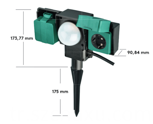 Outdoor Socket with light sensor
