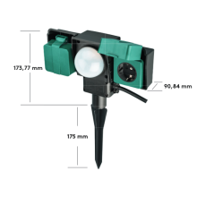 Black/Green 2 Way Outdoor Garden Sockets
