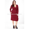 Latest Hot Selling Fashion Convertible Multi Way Wrap Cocktail Gown Dresses Bandage Bridesmaid Dress Plus Size