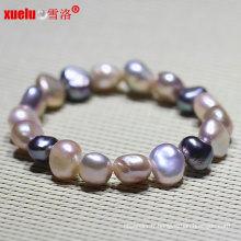 Bracelet en perles d'eau douce baroque naturel bijoux de mode (E150048)