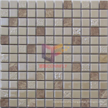 Cream Beige Ceramic and Marble Mosaic (CS233)