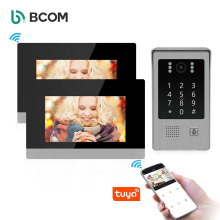 Bcom home security support sd card 1.0 MP waterproof visual intercom system