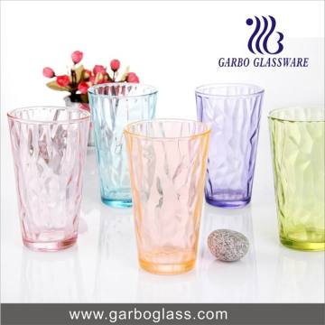 Fancy Candy Color Glass Tumbler for Juice or Mix Drinks Drinking