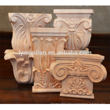 Indoor decor wood capitals and carved wood capitals