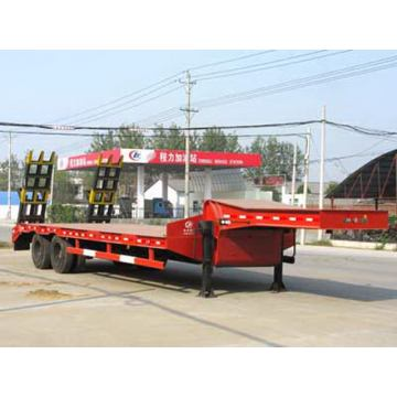 Two Axles Low Flat Plate Semi Trailer