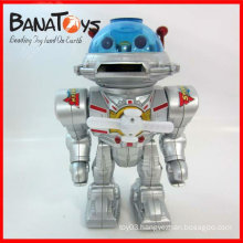 Battery operated kid robot toy with sound and disc shooting