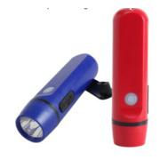 1 torcia a dinamo LED con funzione di carica del telefono