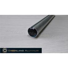 Perfil de alumínio para cortinas de rolo cabeça tubo redondo 30 mm prata anodizada