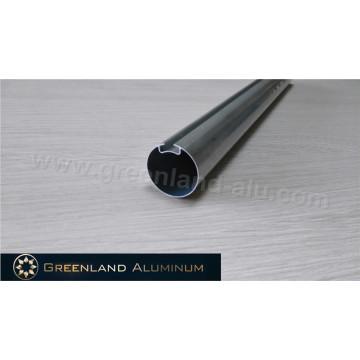 Perfil de aluminio para cortinas enrollables Tubo de dirección redondo 30 mm plateado anodizado