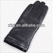 mens sponge cuff deisgn driving leather gloves