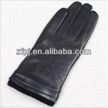 Mens esponja cuff deisgn condução luvas de couro