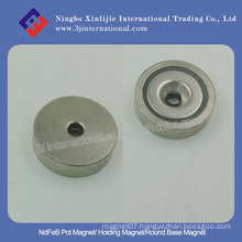 NdFeB Pot Magnet/Neodymium Holding Magnet/Round Base Magnet