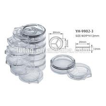 Contenedores de Blush cosmético transparente