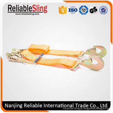ISO do GS do Ce 2 polegadas 5000 quilogramas de laranja amarram para baixo com o punho plástico da catraca