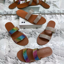 2020 wholesale new latest stylish outdoor summer flat  slippers sandals for women