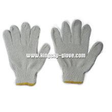 7г белой строки трикотажные рабочие перчатки-2401