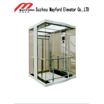 Elevador panorâmico da sala da máquina pequena com vidro de segurança