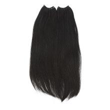 Brazilian Dark Black 1# Top Quality Remy Knot Thread No Tip Hair Extensions Human Hair Virgin Hair