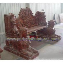 Chaise de jardin antique en marbre en marbre pour jardin (QTC067)