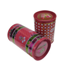Runder Zinnkasten für Geschenkpaket Parfümpaket Tin