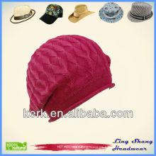 Sombrero de invierno caliente Gorro de punto de patrón de gorra libre de sombrero hecho a medida de gorrita tejida sombrero Hat invierno, LSC25