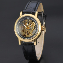 diamond master dial alloy mechanical watch with transparent back case