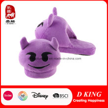 Purple Monster Emoji Slipper Warm Plush Slipper