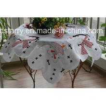 Precioso muñeco de nieve Snowman St1737 Design Table Cloth