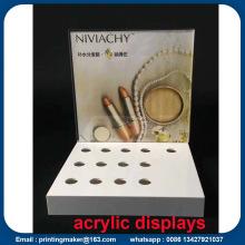 Soporte de exhibición de acrílico con impresión UV gráfico