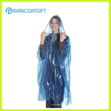 Günstige Einweg-PE Regenmantel Poncho Rbc-160