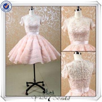 JJ3505 Manga Curta Beaded Lace Puffy Sexy Short Wedding Dress 2013
