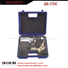 HVLP suction type Spray Gun Kit blow case packed AB-17SK