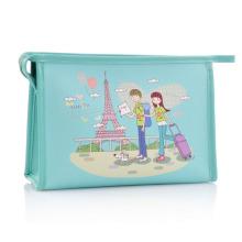 Леди моды сцепления печатных PU косметических туалетных принадлежностей сумка (YKY7532-3)